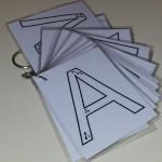 Cartes écriture lettres majuscules