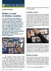 Article La classe Maternelle 1