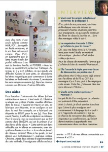 Article La classe Maternelle 2